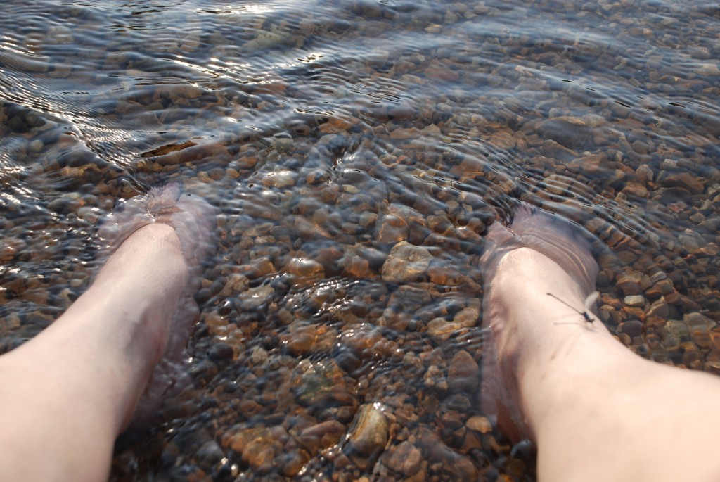Scrunch your toes in the smooth rocks and cool waters of the James River. I did. Photo by Samuel E. Warren Jr.